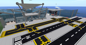 X-Dynamics Airport, looking S (09.10.13)