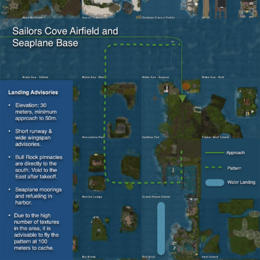 Sailors Cove Airfield Approach Map