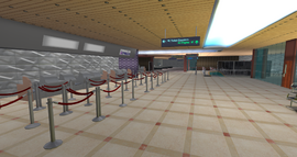 East River Intercontinental Airport, Check-In Desks (06-14)