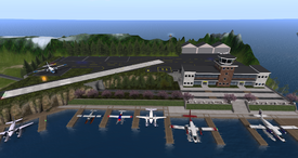Juneau Regional Airport, looking east (10-14)