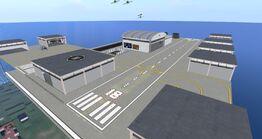 Snug Harbour Airport, looking SE (09.10.13)