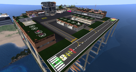 Second Life Int. Airport, looking NE (03-15)