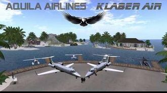 Aquila Airlines - Klaber Air 2018 - Second Life flight experience