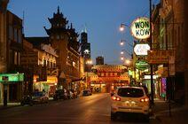Chicago Chinatown night
