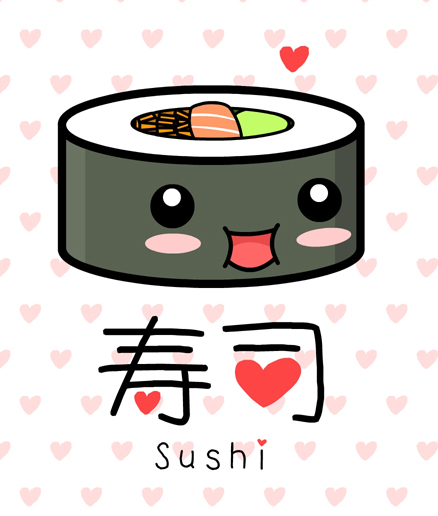Image kawaii sushi by the 8th second life wiki fandom powered by wikia - Caritas alimentos ...