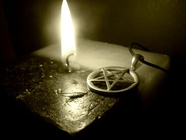 Pentagram on the Candle