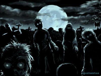 Graveyard-zombies-evil-spirits
