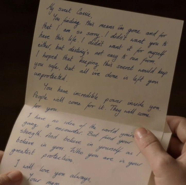 Amelia's letter to Cassie | The Secret Circle Wiki | FANDOM