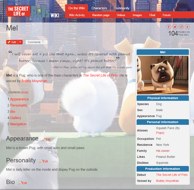 quote templates on character pages the secret life of pets wiki