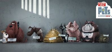 The Flushed Pets concept art