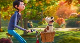 Max on Katie's bike