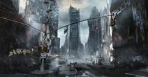 Manhattan Exclusion Zone Concept Art