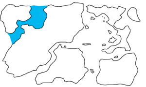 First Region Map Highlighting New Barents Sea