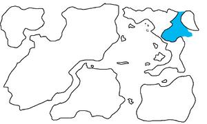 First Region Map Highlighting Latenga Gulf