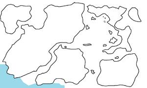 First Region Map Highlighting Trinubiaen Ice Shelf
