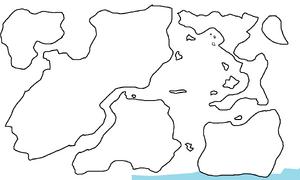 First Region Map Highlighting Arco-Biancian Ice Shelf