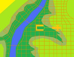 Simbopolis with roads