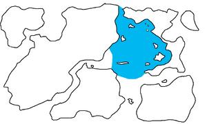 First Region Map Highlighting Arawdielli Sea