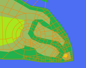 Cape Argent City with roads
