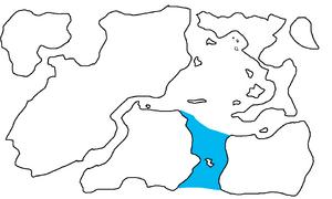 First Region Map Highlighting Archangelsk Strait