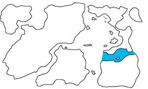 First Region Map Highlighting Appia of Biancoslatania