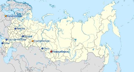 Russia location map 2015