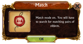 Match mode information box