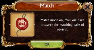 Match mode information box