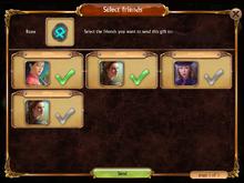 Gfiting selecting friends