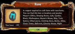 Inventory Window Rune