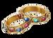 C0738 Precious Clues i02 Gold Bracelets