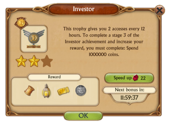 Investor Trophy Special Access Items Reward