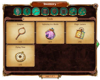 Inventory Tools Tab