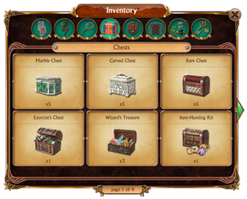 Inventory Chests Tab