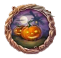 Decorative Quest Border Pumpkin Nostalgia