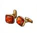 C0018 Valuable Cufflinks i03 Amber Cufflinks