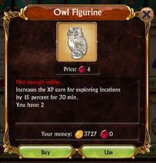 Store Owl Figurine information box