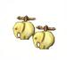C0018 Valuable Cufflinks i05 Bone Cufflinks