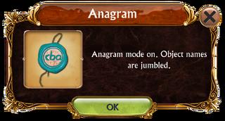 Anagram mode information box