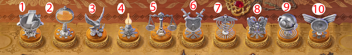 Achievements trophies