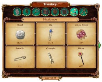 Inventory Miscellaneous Tab