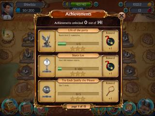 Achievements incomplete