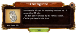 Inventory Window Owl Figurine