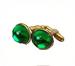 C0018 Valuable Cufflinks i02 Emerald Cufflinks