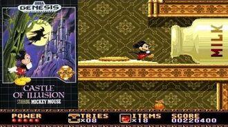 Castle of Illusion Starring Mickey Mouse - Longplay (Sega Genesis MegaDrive)