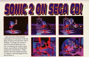 Sonic 2 in Mega CD