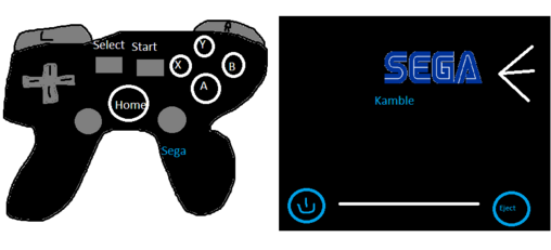 Sega Kamble Console with Controller