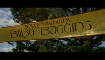 Banderole anniversaire de Bilbon