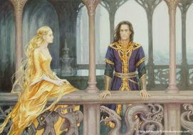 Túrin et Finduilas à Nargothrond