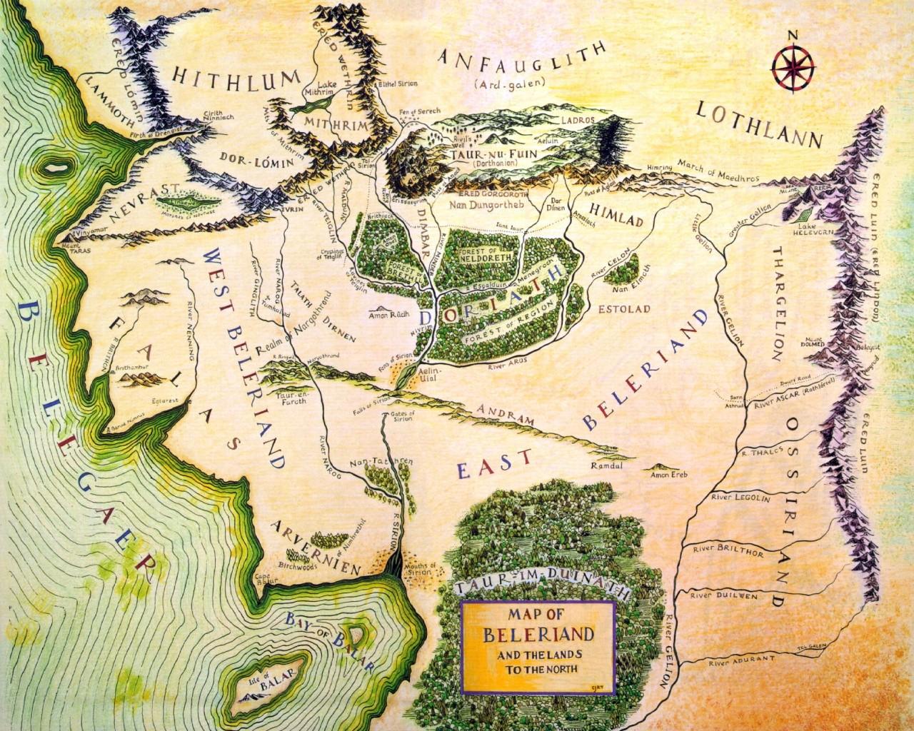 Carte Terre Du Milieu Premier Age.Beleriand Wiki J R R Tolkien Fandom Powered By Wikia